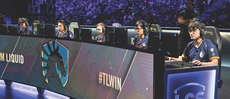 """Team Liquid competes in the """"League of Legends"""" series in Detroit."""
