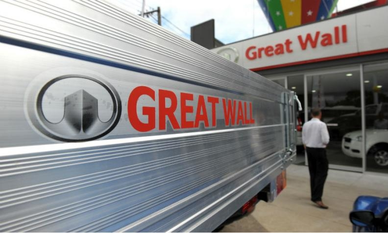Great Wall logo and sign