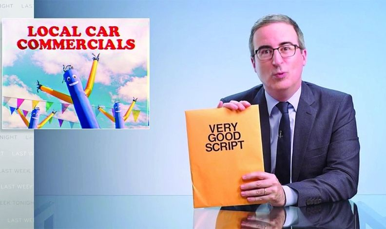 """John Oliver said his script has """"no cursing, blasphemy or nudity"""" and would not be expensive to produce."""