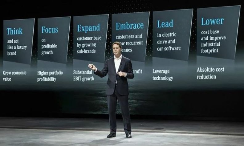 Daimler CEO Ola Kallenius speaks at an investor presentation