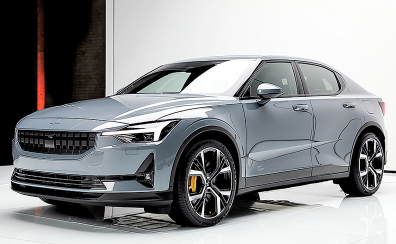 The Polestar 2 electric vehicle