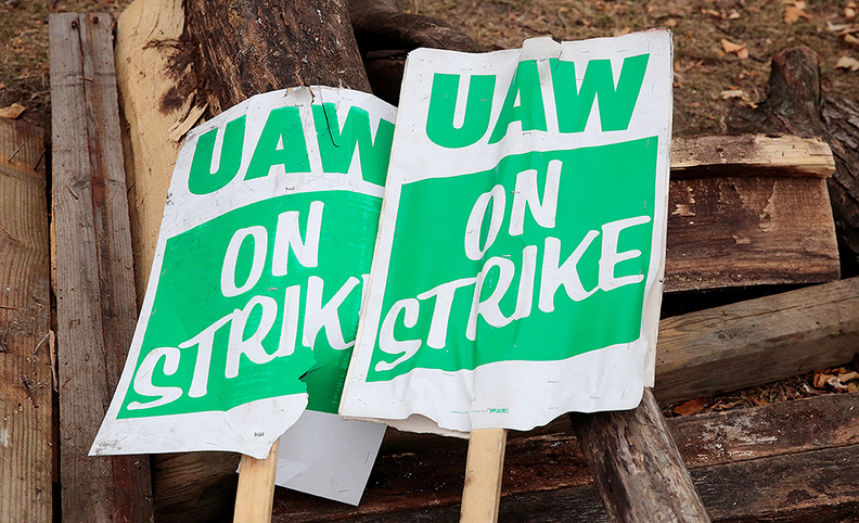 UAW picket signs