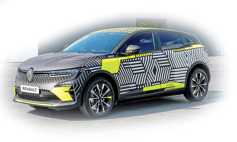 Renault's Megane-e full-electric compact car will launch next year.