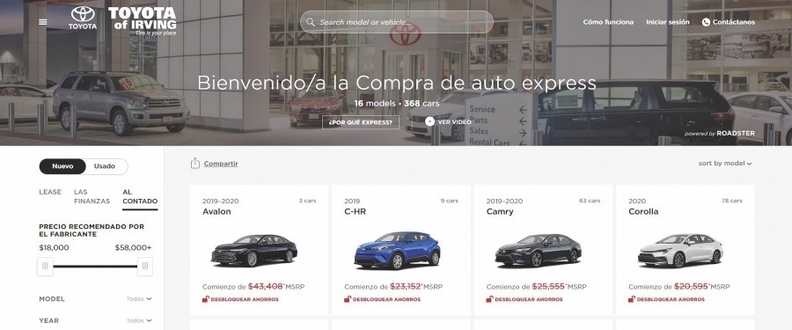 Roadster launched the Spanish version of its Express Storefront in response to dealer requests. More than 150 use it as of early October.