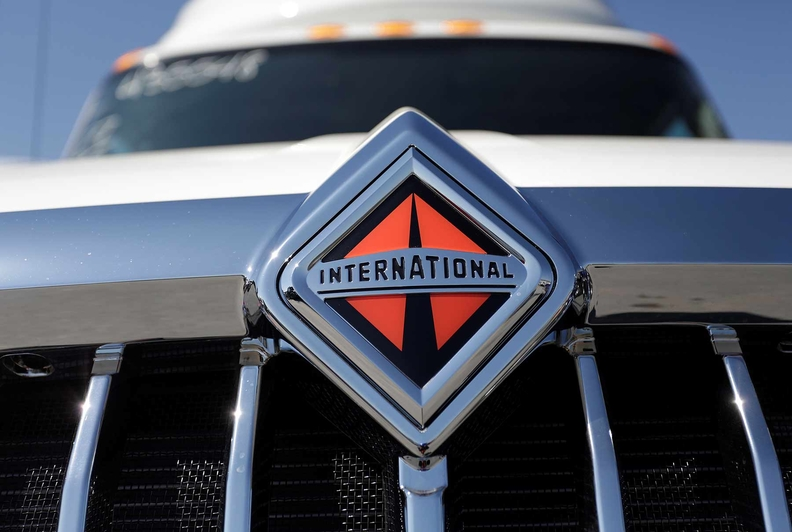 Badge of a International brand heavy truck
