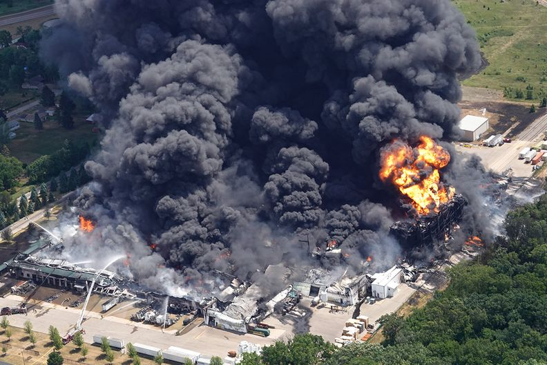 Supplier Chemtool's plant in Illinois 'consumed' by explosion, fire