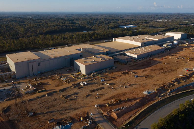 SK Battery America Inc.'s facility under construction in Commerce, Georgia