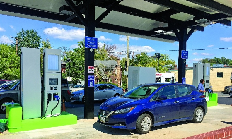 A $786,000 grant helped fund RS Automotive's electric charging system in Takoma Park, Md.