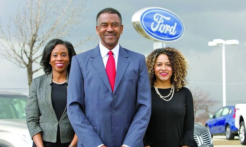 Karen Ford, left, and Karmala Sutton joined their father, Nathaniel Sutton, in the car business. But not all minority dealers have family in the wings.
