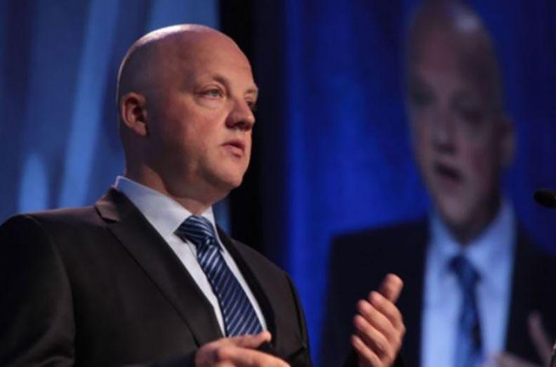 Oliver Schmidt speaking at a conference
