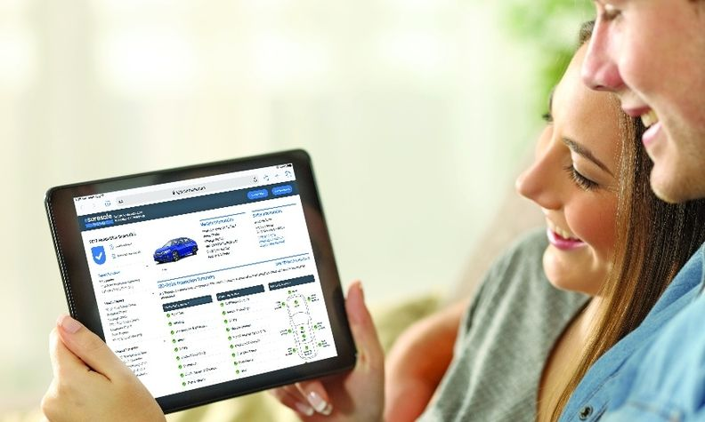 SureSale promises 170-point inspections, road test results and history checks for vehicles.