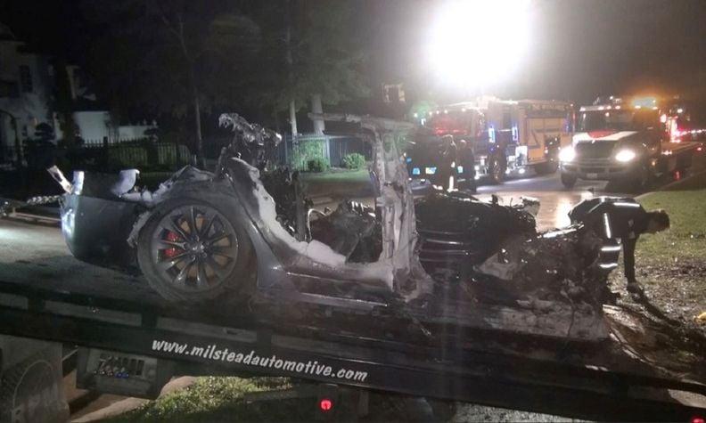 Tesla fatal crash details revealed in Texas fire marshal report