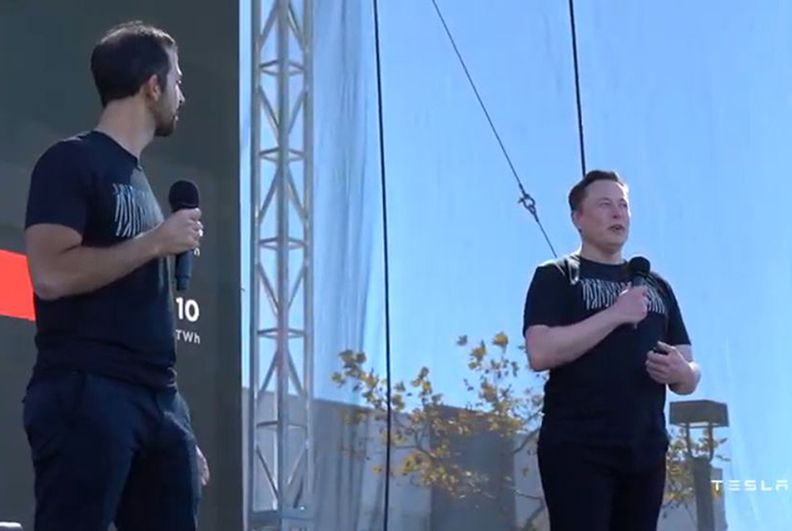 Elon Musk at Tesla's Battery Day presentation