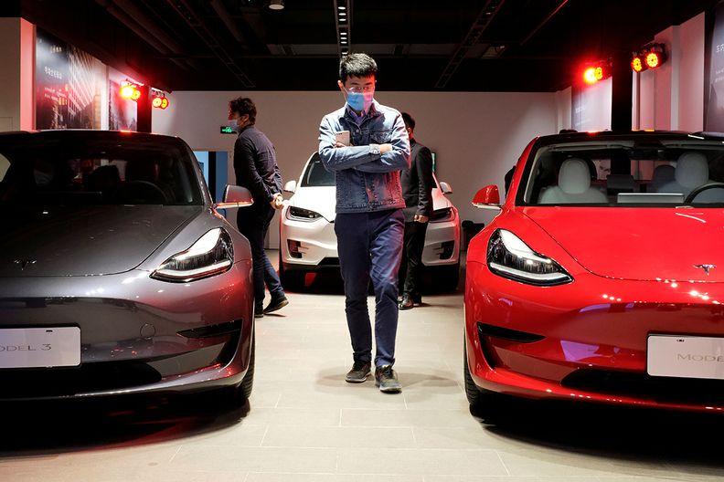 Tesla showroom China