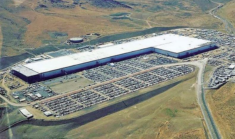 The Gigafactory outside Reno, Nev.
