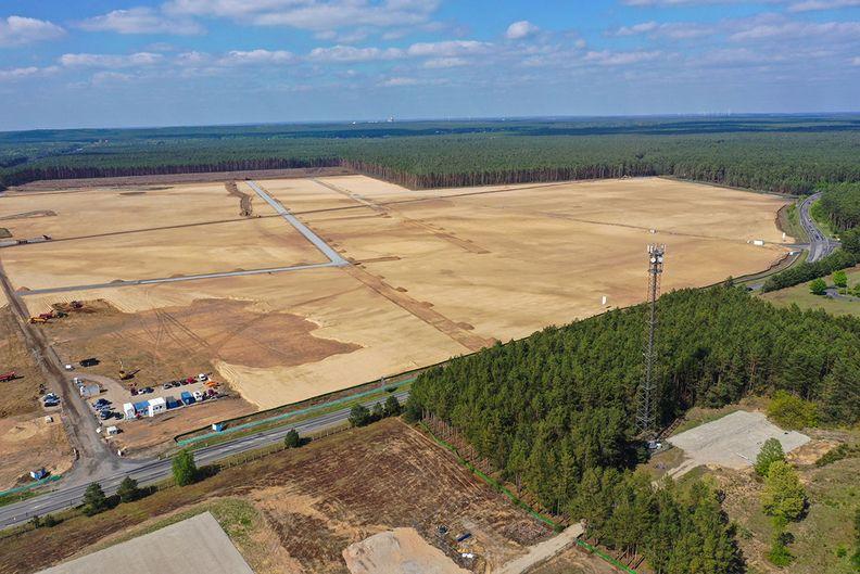 Tesla's German plant site