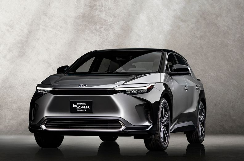 The Toyota bZ4X electric crossover concept.