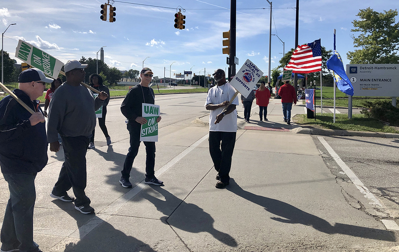 "UAW members on the picket line at GM's Detroit Hamtramck Assembly plant said they have a ""strengthened resolve"" following Sunday's update on negotiations hitting a snag."