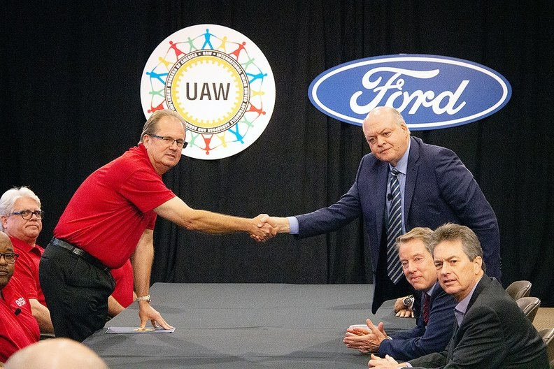 Ford is trying to show the UAW that it's investing in U.S. manufacturing even as it pushes to keep labor costs in check.