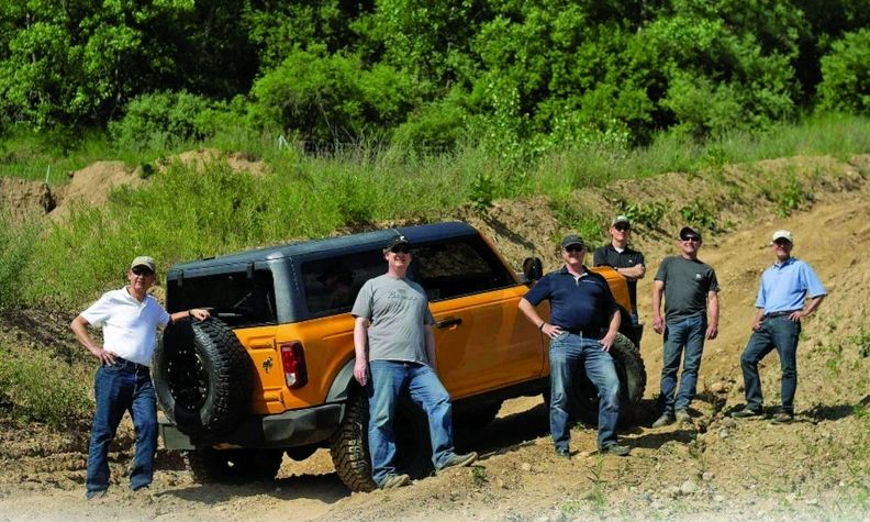 A group of Ford employees known as the Bronco Underground developed the SUV with two and four doors.