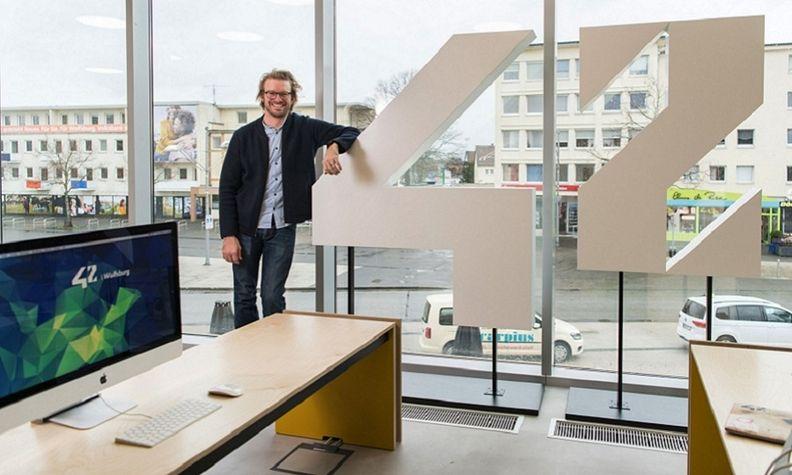 Max Senges at VW's Wolfsburg coding school