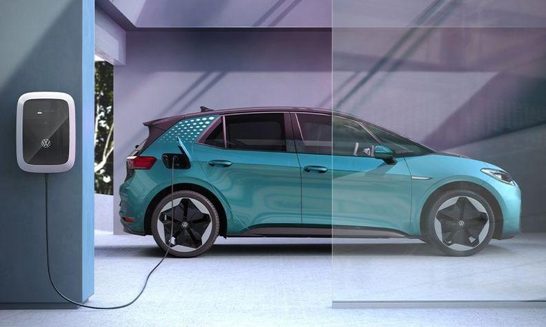 VW ID3 electric vehicle charging