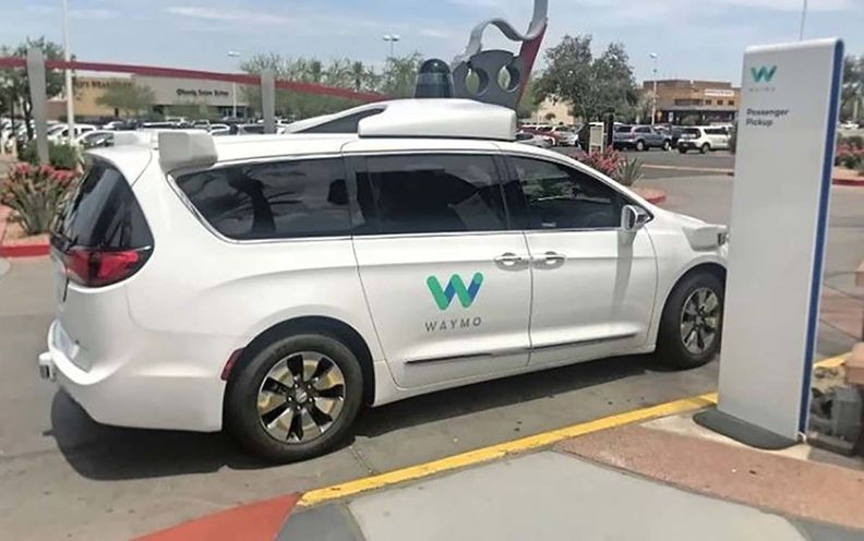 Waymo self-driving van