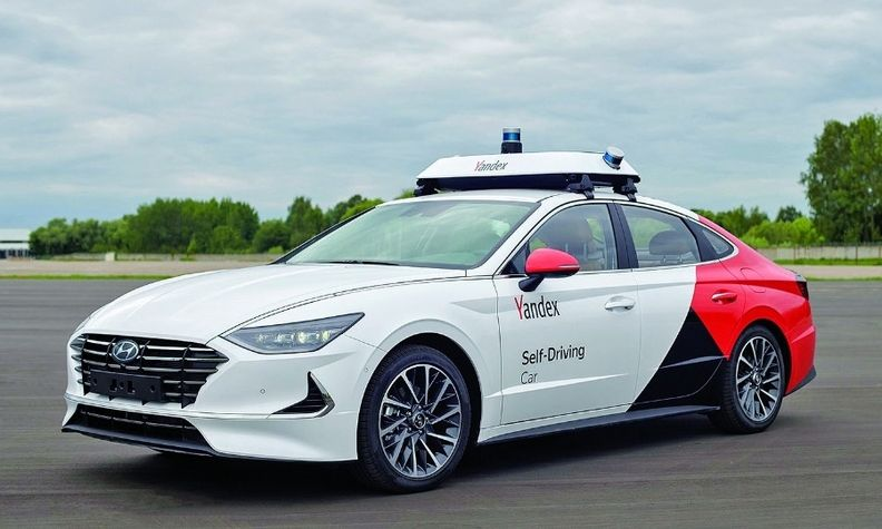 A Yandex self-driving Hyundai Sonata