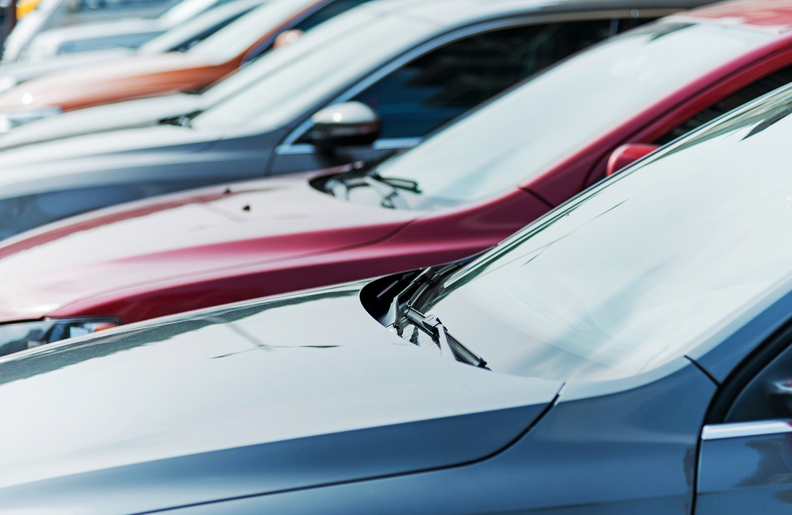 Cars for sale on lot