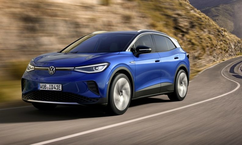 The Volkswagen ID4 electric crossover