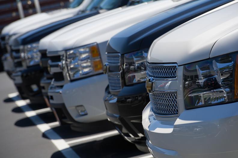 Chevy dealer lot