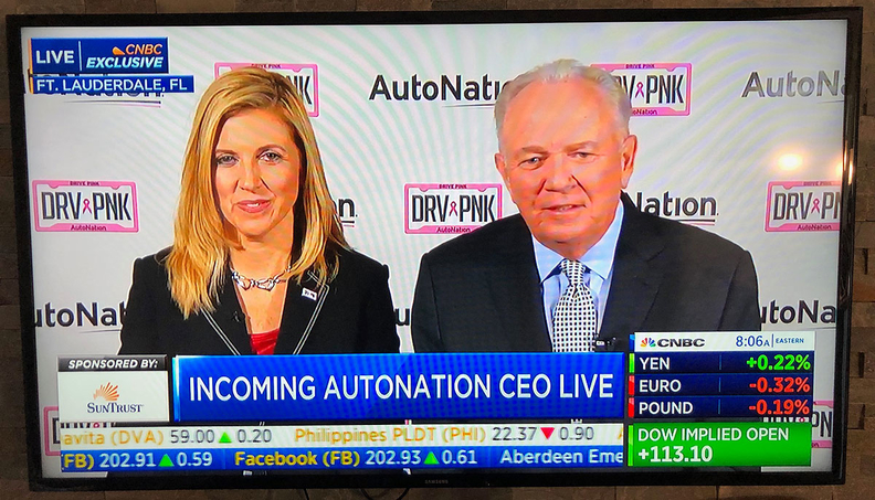 AutoNation CEO Cheryl Miller was introduced on CNBC by Executive Chairman Mike Jackson during a Tuesday morning interview. Jackson told Automotive News that Miller was the runner up for the CEO post in February.