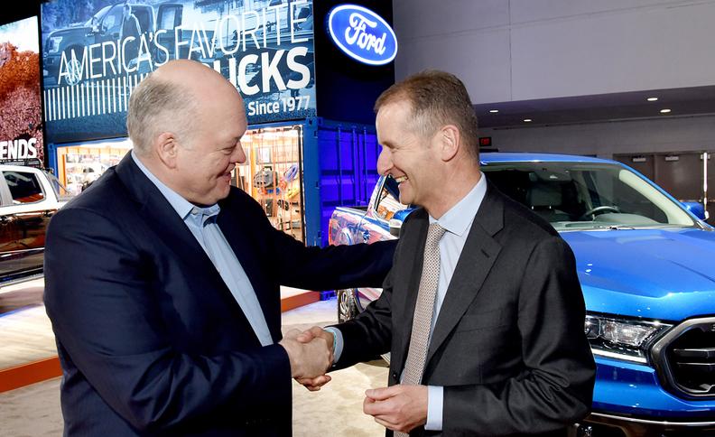 Hackett & Diess - Chefs von Ford und VW