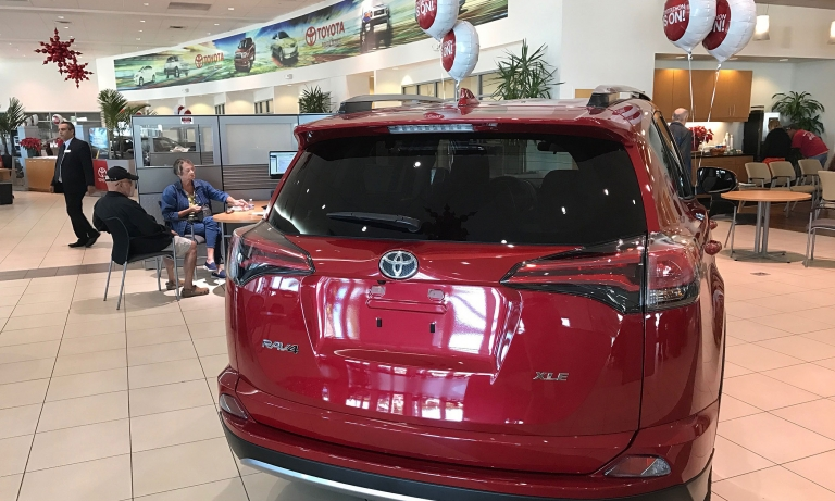 TOYOTA: Down 2% for the year on car-truck mix