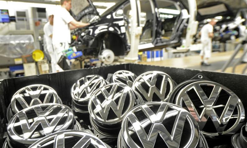 VW hood badges